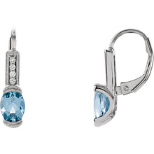 Classic and sophisticated, these aquamarine earrings are a lovely look any time. Fashioned in 14K white gold, each earring features a 7x5mm oval aquamarine gemstone. Polished to a brilliant shine.