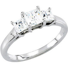 Product Specification  Quality: 14K White Gold  Jewelry State: Complete With Stone  Ring Size: 06.00  Stone Type: Diamond  Center stone size: 03.50x03.50 mm  Stone Shape: Princess  Stone Color: G-H  Stone Clarity: I2  Weight: 2.49 grams  Finished State: Polished