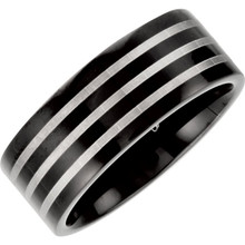 Product Specifications  Quality: Titanium  Style: Men's Wedding Band  Ring Sizes: 10  Width: 8mm  Surface Finish: Polished
