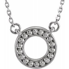 "Make a statement with this beaded circle 16-18"" necklace. You will reach for this one over and over again."