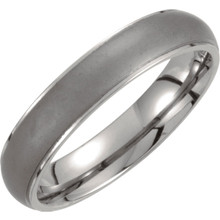 Product Specifications  Quality: Titanium  Style: Men's Wedding Band  Ring Sizes: 7-12.00 ( Whole & Half Sizes )  Width: 5mm  Surface Finish: Polished