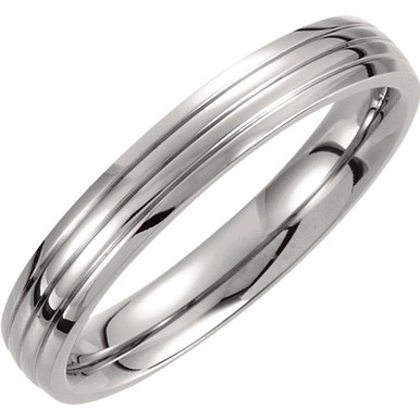 Product Specifications  Quality: Titanium  Style: Men's Wedding Band  Ring Sizes: 6-11.50 ( Whole & Half Sizes )  Width: 4mm  Surface Finish: Polished