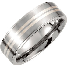 Product Specifications  Quality: Titanium  Style: Men's Wedding Band  Ring Sizes: 8-13.00 ( Whole & Half Sizes )  Width: 9mm  Surface Finish: Polished