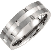 Product Specifications  Quality: Titanium  Style: Men's Wedding Band  Ring Sizes: 8-13.00 ( Whole & Half Sizes )  Width: 7.0mm  Surface Finish: Satin/Polished