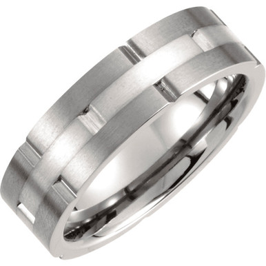 Product Specifications  Quality: Titanium  Style: Men's Wedding Band  Ring Sizes: 8-13.00 ( Whole & Half Sizes )  Width: 7.0mm  Surface Finish: Satin/Polished