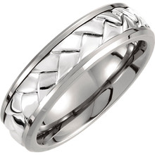 Product Specifications  Quality: Titanium  Style: Men's Wedding Band  Ring Sizes: 8-13.00 ( Whole & Half Sizes )  Width: 7.0mm  Surface Finish: Polished