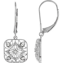Add a touch of glamour to her everyday look with these fine earrings. Fashioned in sterling silver and has a bright polish to shine.