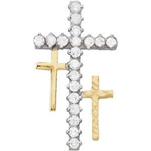 "This is a lovely ""Resurrection"" cross pendant with cubic zirconia's made in sterling silver.  Designed by Michael Letney"