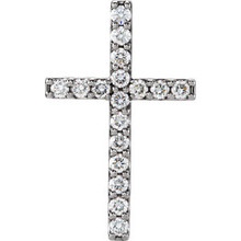 Love for religion is truly something to celebrate. Petite Diamond cross pendant in platinum. Radiant with 1/2 ct. tw. and polished to a brilliant shine.