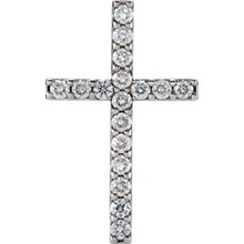 Show your faith with this gorgeous diamond cross pendant in platinum totaling 1 ct. tw. Polished to a brilliant shine.