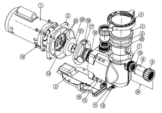 Pentair 355612 Black Seal Plate Replacement Sta-Rite SuperMax Pool and Spa Inground Pump