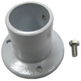"PERMA-CAST | ALUMINUM DECK FLANGE FOR ABOVE GROUND 1.5"" DIAMETER RAIL 