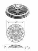 "WATERWAY   COMPLETE 8"" TRU FLOW FRAME & COVER, DARK GRAY    640-1809-DKG V"