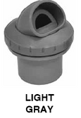 "INFUSION | INFUSION VENTURI RETURN, LIGHT GRAY 1-1/2"" INSIDER GLUE IN | VRFSISLG"