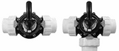 "CUSTOM MOLDED PRODUCTS | COMPLETE BLACK CPVC VALVE WITH UNIONS, 3-WAY, 1-1/2"" SLIP 
