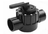 "PENTAIR | 2-WAY CPVC VALVE, 2-1/2"" SLIP,3"" SPIGOT 