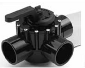 "PENTAIR | 3-WAY CPVC VALVE, 2-1/2"" SLIP,3"" SPIGOT 