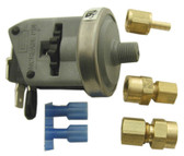 "LEN GORDON | PRESSURE SWITCH, 1/8"" NPT,WITH BOTH 3/16"" AND 1/4"" COMPRESSION FTG. ADAPTORS, 20 AMP 24-240V 