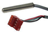 "GECKO | HIGH LIMIT SENSOR, MSPA-1, MSPA-4, TSPA, 76"" CABLE 4 PIN RED PLUG, OUTSIDE PIN NEXT TO RED WIRE IS PLUGGED 