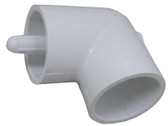 "90° ELBOW, 1 1/2"" SLIP X 1 1/2"" SLIP WITH 1 THERMOWELLS, 5/16"" ID X 4"" LONG 