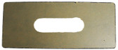 "HYDROQUIP | ADAPTOR PLATE FOR SMALL SPASIDES INSIDE CUTOUT 3 5/8"" X 1"" OUTSIDE IS 8 1/2"" X 3 5/16"" 