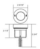 A & A MANUFACTURING CLEANING HEADS | STYLE I, LOW FLOW INTERNAL, WHITE | 521800