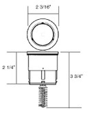 A & A MANUFACTURING CLEANING HEADS | STYLE II, HIGH FLOW INTERNAL, TAN | 521501