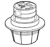 CARETAKER | POP UP DUST & VAC FLOW ADJUST HEAD ONLY, LT GRAY | 3-9-395