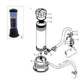 WATERWAY | OFFLINE WHITE COMPLETE CHLORINATOR | CCF012-W