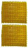 MAYTRONICS | PVC Brush Yellow Set Of 2 Halves | 6101620