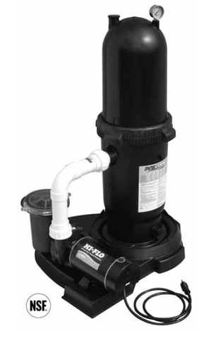 WATERWAY | PROCLEAN / HI-FLO CARTRIDGE FILTER SYSTEM - TWO SPEED |  522-6315-6S
