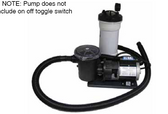 WATERWAY | COMPLETE PUMP & CARTRIDGE FILTER, 25 SQ FT TWM, 1/8 HP, 115V, 1-SPEED, 6' NEMA CORD, NO TRAP | 520-4070LT