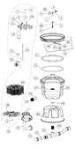 """ASTRAL   SCREEN SUPPORT , AIR BLEED ASSY 3/8""""   00496R0501"""