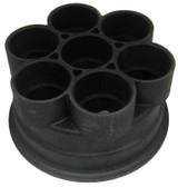 "PARAMOUNT   6 PORT BASE, 2"" BLACK   005-302-4032-03"
