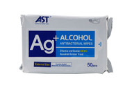 Antibacterial Alcohol Wipes - 50 Pack