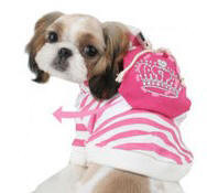 Dog's Booded T-shirt by Puppia - Pink