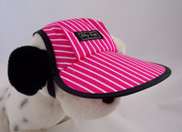 Dog Hat 406 PinkPinstripe