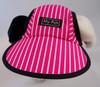Dog Hat 406 PinkWhitePinstripe