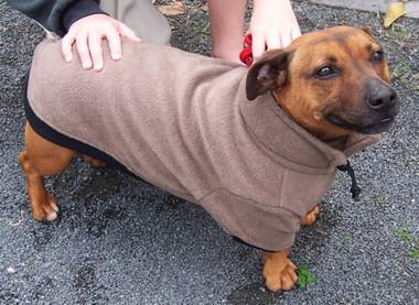 Dog Jumper - Moccha polar fleece fabric