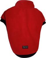 Fleecy dog Jumper - Red