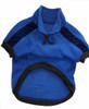Dog Jumper - Polar Fleece fabric - Royal with Royal quilted sleeve insert