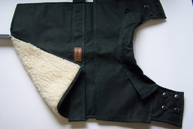Bones-R-Dry (R) Oilskin dog coat GREEN