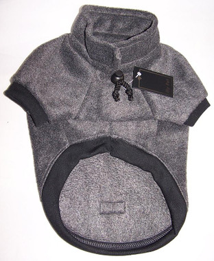 Charcoal dog jumper in soft polar fleece