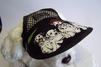 DH523V - Dalmatian Firecrew. Black mesh with printed brim - Small