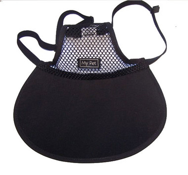 Dog Hat black brim with mesh crown