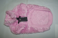 Pastel Pink Feather Fleecy Dog Jumper