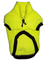 Fluro Yellow fleecy dog jumper