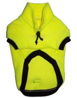 Fluro Yellow fleecy dog jumper
