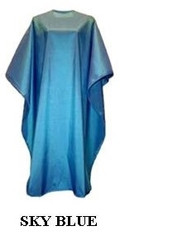 Iridescent Colored Water Repellent Shampoo/Cutting Capes-Sky Blue