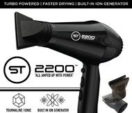 "ST2200 Pro Ionic Hair Dryer ""All Amped Up"""